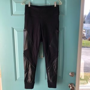Athleta faux leather insulated leggs